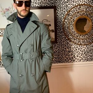 50's Military Trench. Flawless. Chic AF.